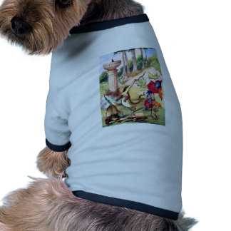 AOME OF THE WEIRD & CHARMING ANIMALS OF WONDERLAND DOGGIE TEE SHIRT