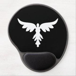 AoT White logo gel mouse mat