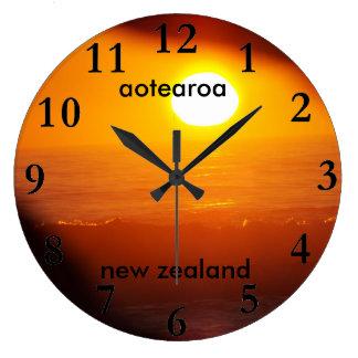 aotearoa new zealand east coast sun rise large clock
