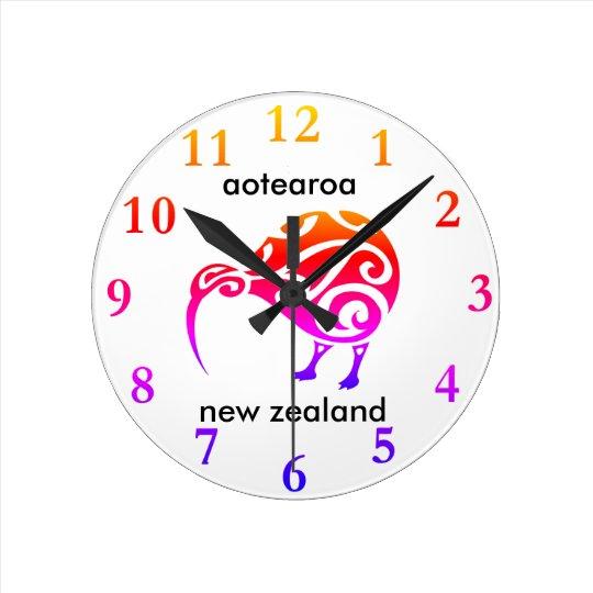 aotearoa new zealand kiwi round clock