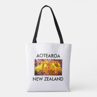 aotearoa new zealand kowhai tote bag