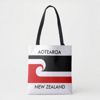 aotearoa new zealand maori flag tote bag