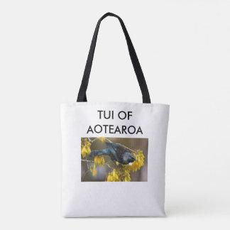 aotearoa new zealand tui 3 tote bag