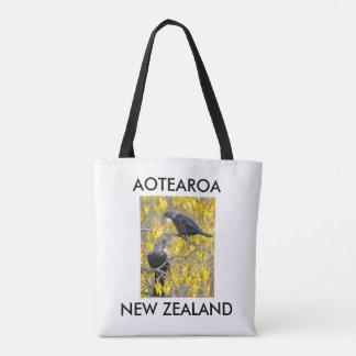 aotearoa new zealand twin tuis tote bag