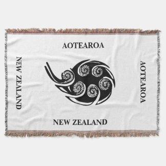 AOTEAROA / NZ KORU throw from new zealand