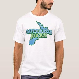 Aotearoa Rocks! New Zealand map T-Shirt