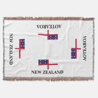 AOTEAROA united tribes flag throw from new zealand