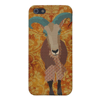 Aoudad Art Amber Damask Case iPhone 5 Covers