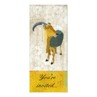 """Aoudad Gold & White Invitation 4"""" X 9.25"""" Invitation Card"""