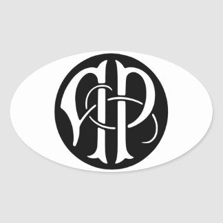 AP Monogram Oval Sticker