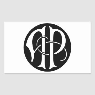 AP Monogram Rectangular Sticker