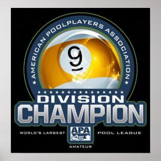 APA 9 Ball Division Champs Poster