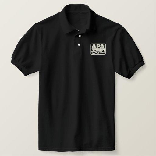 APA Logo - Cream Embroidered Polo Shirt