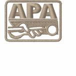 APA Logo - Tan Embroidered Hooded Sweatshirt