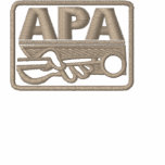 APA Logo - Tan Embroidered Hooded Sweatshirts