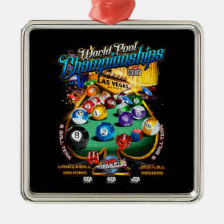 APA World Pool Championships 2017 Metal Ornament