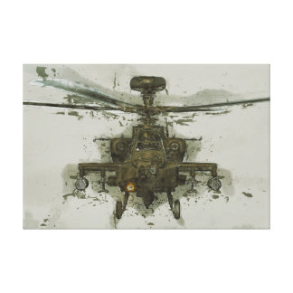 Apache Attack Helicopter Canvas Print