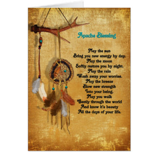 Apache Blessing congratulations greeting card