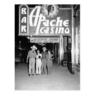 Apache Casino & Bar Vintage Las Vegas Photo Postcard