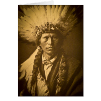 Apache Chief Garfield Indian Vintage Greeting Card