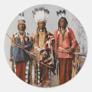 Apache Chiefs Garfield Ouche Te Foya 1899 Classic Round Sticker