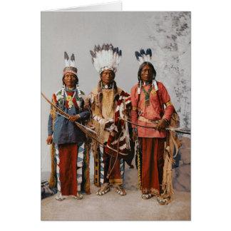 Apache Chiefs Garfield Ouche Te Foya 1899 Greeting Card