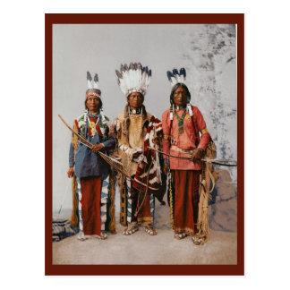 Apache Chiefs Garfield Ouche Te Foya Vintage Postcard