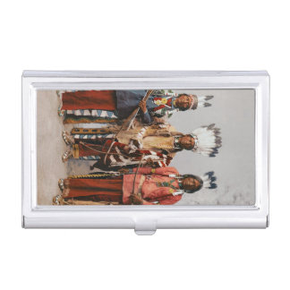 Apache Chiefs Vintage Native Americans Business Card Holder