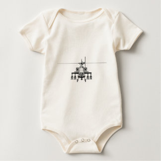 Apache Helicopter - Head-On Baby Bodysuit