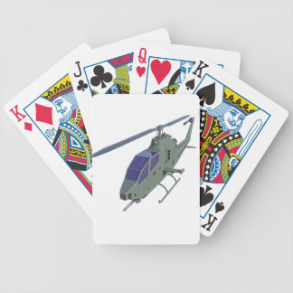 Apache helicopter in front view bicycle playing cards