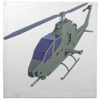 Apache helicopter in front view napkin