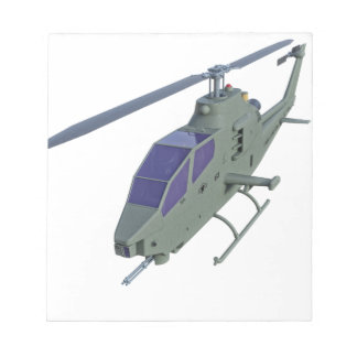 Apache helicopter in front view notepad