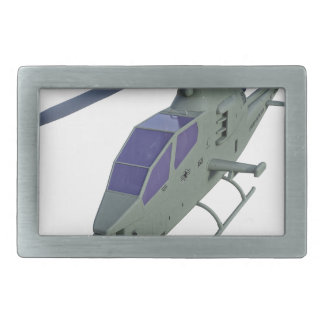 Apache helicopter in front view rectangular belt buckles