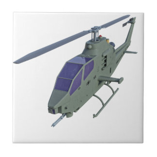 Apache helicopter in front view tile