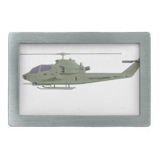 Apache helicopter in side view profile belt buckle