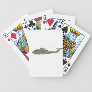 Apache helicopter in side view profile bicycle playing cards