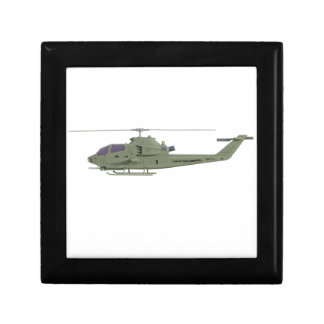 Apache helicopter in side view profile gift box