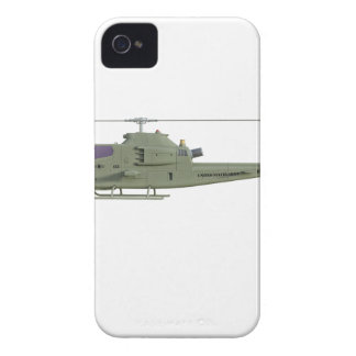 Apache helicopter in side view profile iPhone 4 case