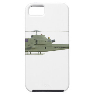Apache helicopter in side view profile tough iPhone 5 case