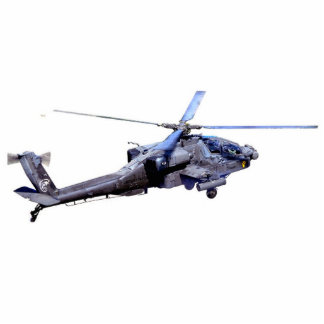 Apache Helicopter Standing Photo Sculpture