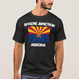 Apache Junction, Arizona with Arizona State Flag T-Shirt