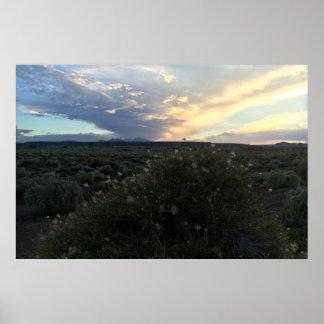 Apache Plume Sunset Poster