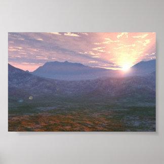 Apache Sunrise Poster