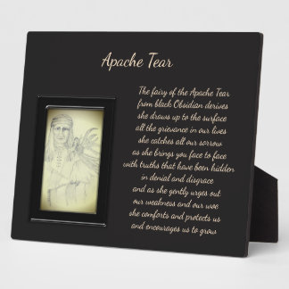 Apache Tear Crystal Fairy Plaque
