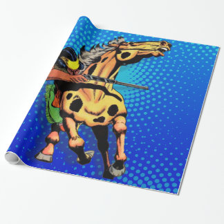 Apache Trail #1, Native American on Horseback Wrapping Paper