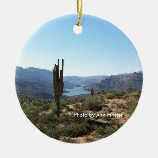 Apache Trail Saguaro Ceramic Ornament