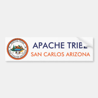 Apache Tribe San Carlos Arizona Bumper Sticker