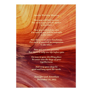 Apache Wedding Blessing Canyon Photo 20x28 Matte Poster