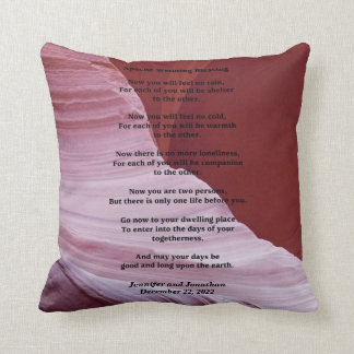 Apache Wedding Blessing Canyon Photo Custom Pillow Cushions