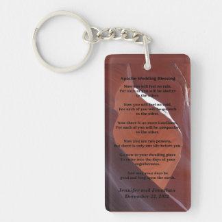 Apache Wedding Blessing Canyon Photo Keychain Single-Sided Rectangular Acrylic Keychain
